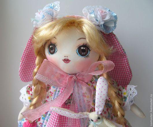 Коллекционные куклы ручной работы. Ярмарка Мастеров - ручная работа. Купить Зая, розовые ушки. Handmade. Розовый, романтичный стиль