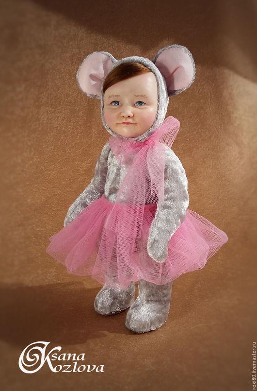 Коллекционные куклы ручной работы. Ярмарка Мастеров - ручная работа. Купить тедди-долл Мышка. Handmade. Серый, мышка игрушка