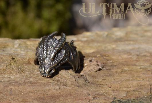 """Кольца ручной работы. Ярмарка Мастеров - ручная работа. Купить Перстень """"Голова Дракона"""". Handmade. Дракон, кольцо с драконом"""