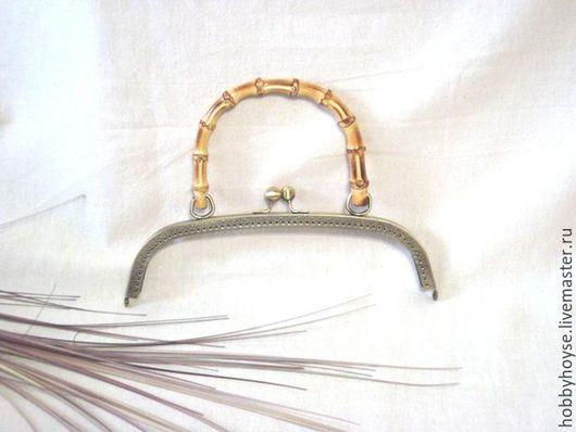 Другие виды рукоделия ручной работы. Ярмарка Мастеров - ручная работа. Купить фермуар пришивной 25 см.(бамбук). Handmade.