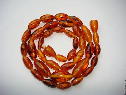 """Колье, бусы ручной работы. Ярмарка Мастеров - ручная работа. Купить бусики янтарные """"Оливочка"""". Handmade. Оранжевый, застывшая смола"""