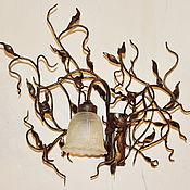 Для дома и интерьера ручной работы. Ярмарка Мастеров - ручная работа Кованый светильник бра настенный. Handmade.