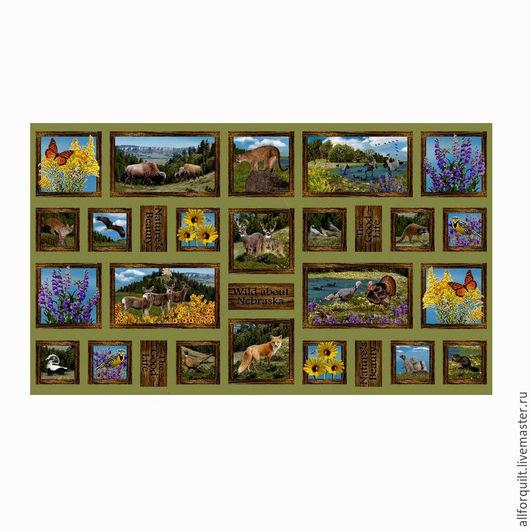 Шитье ручной работы. Ярмарка Мастеров - ручная работа. Купить Панель Wild About Nebraska 60 х110 см. США. Handmade.