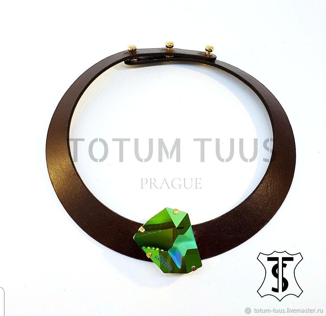 Designer leather necklace     Art:18000139, Necklace, Prague,  Фото №1