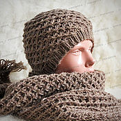Аксессуары handmade. Livemaster - original item Set: scarf, hat and mittens (No. №463). Handmade.
