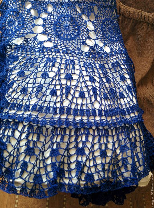 """Юбки ручной работы. Ярмарка Мастеров - ручная работа. Купить вязаная юбка""""Ультрамарин"""". Handmade. Синий, авторская ручная работа"""
