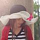 """Шляпы ручной работы. Заказать Детская летняя шляпа """"Le vol du papillon"""" (Полёт бабочки). Наталья Прокофьева (la-magie-spb). Ярмарка Мастеров."""