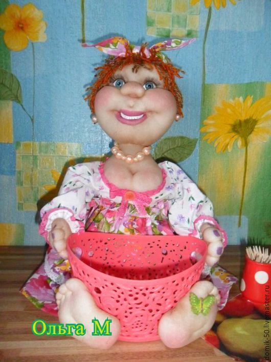 Народные куклы ручной работы. Ярмарка Мастеров - ручная работа. Купить Кукла, конфетница - хлебница.. Handmade. Кухня, кукла интерьерная