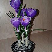 Цветы и флористика ручной работы. Ярмарка Мастеров - ручная работа Крокусы. Handmade.