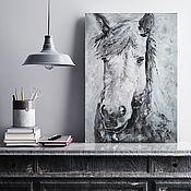Картины и панно handmade. Livemaster - original item 50x70, oil on canvas, portrait of a horse. Handmade.