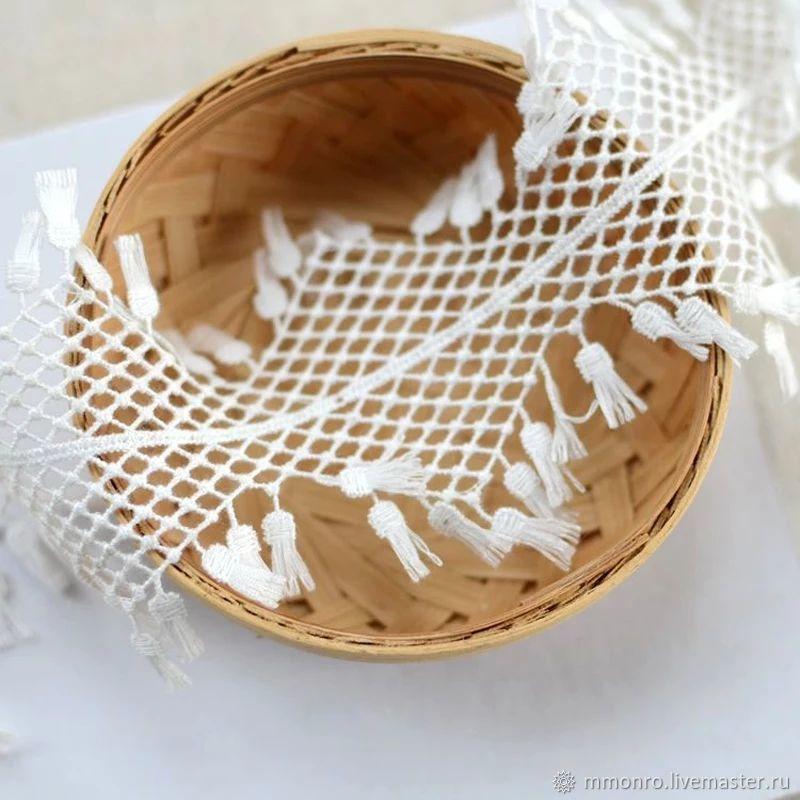 Cotton braid with tassels (fringe) . Epic, braid, Podolsk,  Фото №1