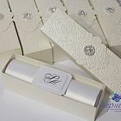 Свадебный салон ручной работы. Ярмарка Мастеров - ручная работа Свадебные пригласительные свитки в коробочке. Handmade.