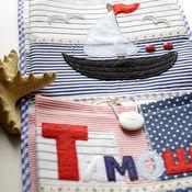 """Для дома и интерьера ручной работы. Ярмарка Мастеров - ручная работа Кармашки для детского сада """"Морские"""", кармашки в детский сад. Handmade."""