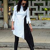Одежда ручной работы. Ярмарка Мастеров - ручная работа женская асимметричная рубашка /asymmetric woman shirt. Handmade.