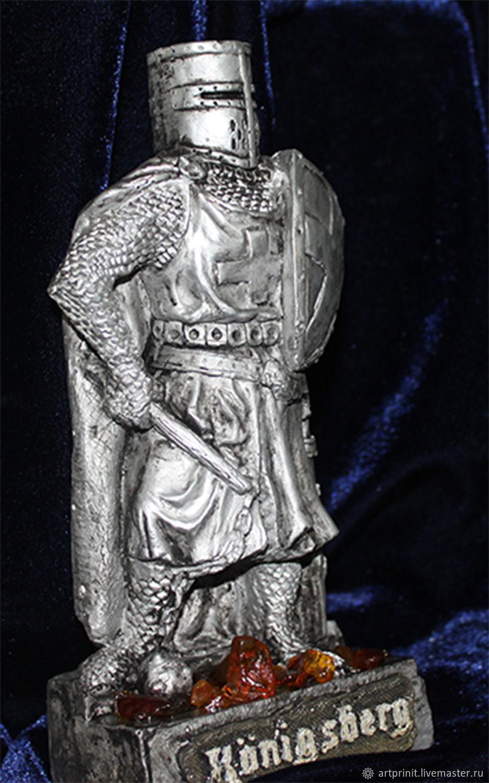 Тевтонский рыцарь Кёнигсберг  OSTPREUSSEN реплика с отделкой янтарем, Мини фигурки и статуэтки, Калининград,  Фото №1