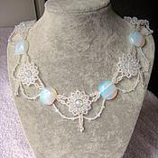 Украшения handmade. Livemaster - original item Necklace with moonstone. Handmade.