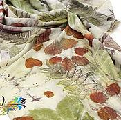 Аксессуары handmade. Livemaster - original item Stole silk Summer story - ekoprint. Handmade.