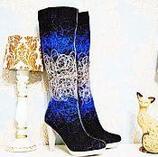 """Обувь ручной работы. Ярмарка Мастеров - ручная работа Сапоги  """"Паутинка"""". Handmade."""