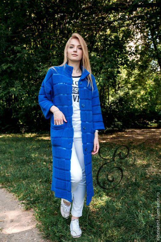 """Кофты и свитера ручной работы. Ярмарка Мастеров - ручная работа. Купить Кардиган """" Синева"""". Handmade. Тёмно-синий"""