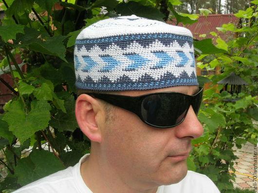 """Для мужчин, ручной работы. Ярмарка Мастеров - ручная работа. Купить Шапка  """"Султан - 14"""". Handmade. Разноцветный, ручная работа, для нее"""