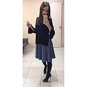Одежда ручной работы. Ярмарка Мастеров - ручная работа Платье 2в1 с имитацией свитера. Handmade.