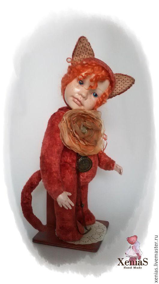Мишки Тедди ручной работы. Ярмарка Мастеров - ручная работа. Купить Тедди долл котенок. Варя. Handmade. Xenia57, xenias