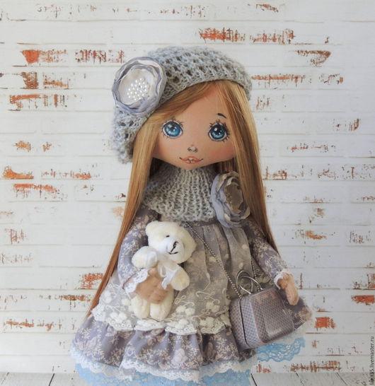 Коллекционные куклы ручной работы. Ярмарка Мастеров - ручная работа. Купить Элиза. Handmade. Серый, подарок женщине, хлопок