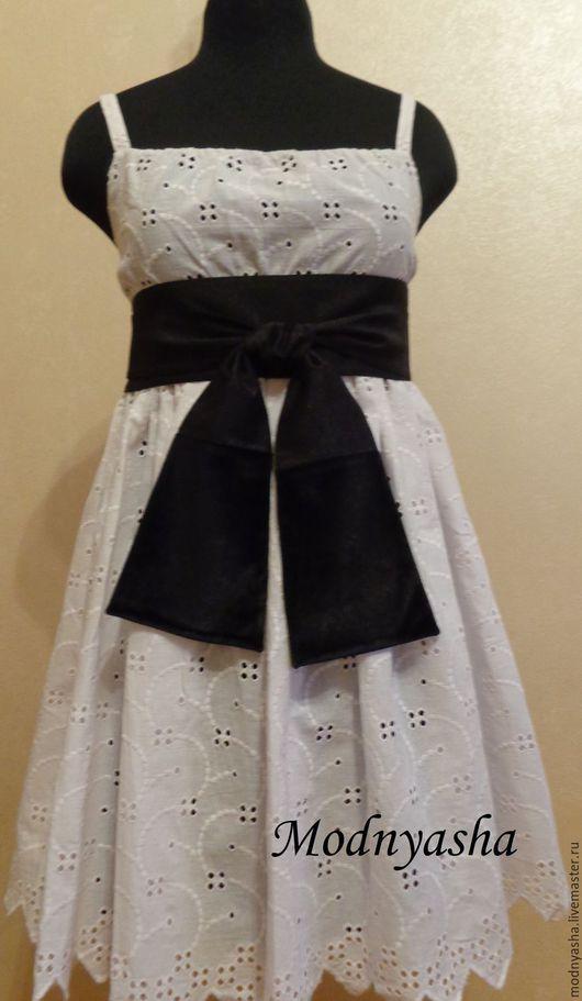 Платья ручной работы. Ярмарка Мастеров - ручная работа. Купить Платье-сарафан. Handmade. Чёрно-белый, сарафан, платье