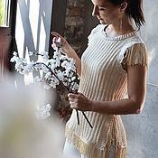 """Одежда ручной работы. Ярмарка Мастеров - ручная работа Вязаный топ """"Pure silk"""" шелк. Handmade."""