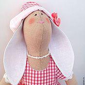 Куклы и игрушки ручной работы. Ярмарка Мастеров - ручная работа Зайка в платье в клетку. Handmade.