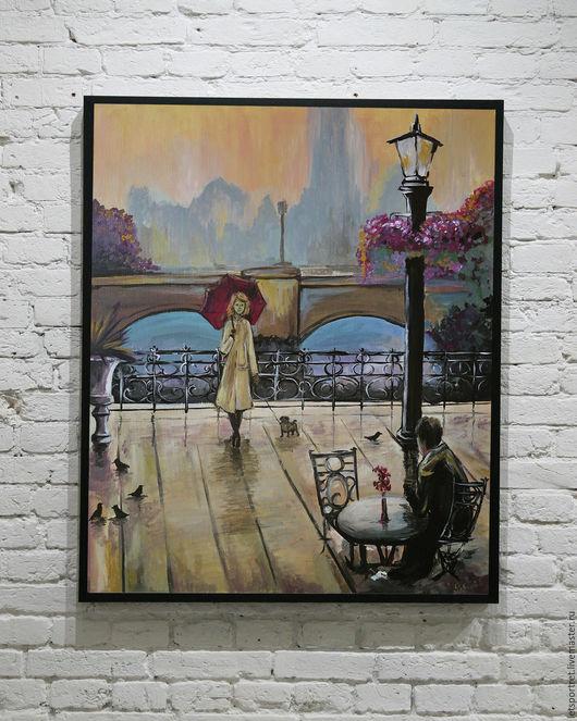 """Город ручной работы. Ярмарка Мастеров - ручная работа. Купить """"париж"""". Handmade. Бежевый, Париж, парижский стиль, Франция, дождь"""