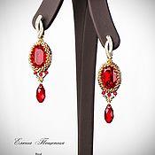 Украшения handmade. Livemaster - original item Red. Earrings