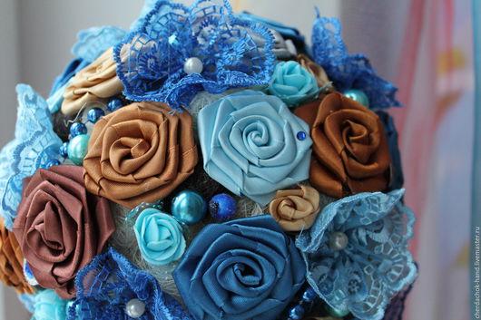 Цветы ручной работы. Ярмарка Мастеров - ручная работа. Купить Розы из атласных лент -  крученные пришивные. Handmade. Комбинированный