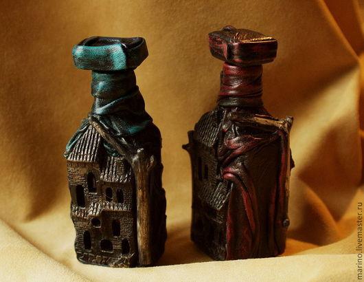 Подарочные наборы ручной работы. Ярмарка Мастеров - ручная работа. Купить Ведьминские бутылочки. Handmade. Подарок женщине, натуральная кожа
