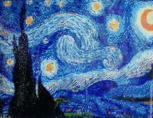 Элементы интерьера ручной работы. Ярмарка Мастеров - ручная работа. Купить Ван Гог.Звездная ночь.. Handmade. Картина, репродукция