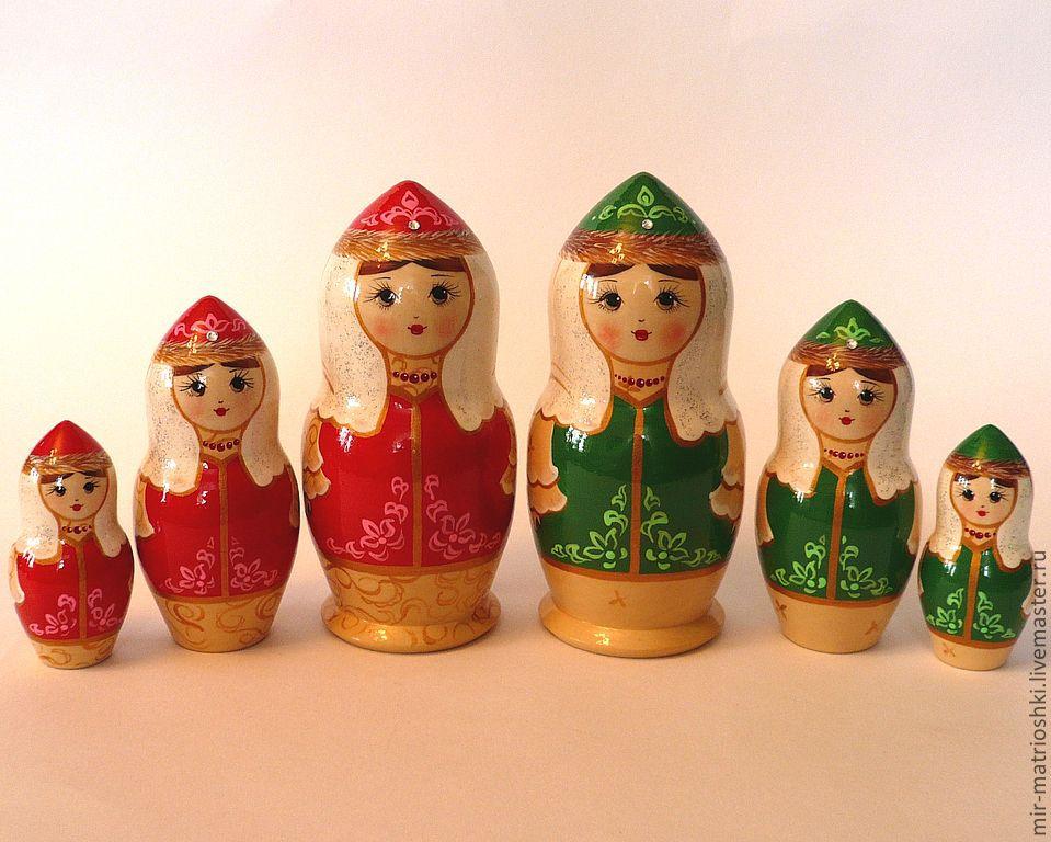 Matryoshka 3 local 'Tatar' small, Dolls1, Sarov,  Фото №1