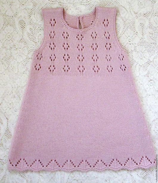 Одежда для девочек, ручной работы. Ярмарка Мастеров - ручная работа. Купить Сарафан с ажурной кокеткой. Handmade. Розовый, сарафанчик