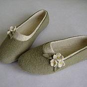 Обувь ручной работы. Ярмарка Мастеров - ручная работа Тапочки Весенние. Handmade.
