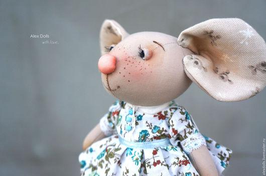 Игрушки животные, ручной работы. Ярмарка Мастеров - ручная работа. Купить Мышка малышка.. Handmade. Зеленый, мышонок из ткани