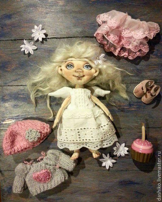 Коллекционные куклы ручной работы. Ярмарка Мастеров - ручная работа. Купить Изюмочка Нежнейшая. Handmade. Бледно-розовый, кукла интерьерная