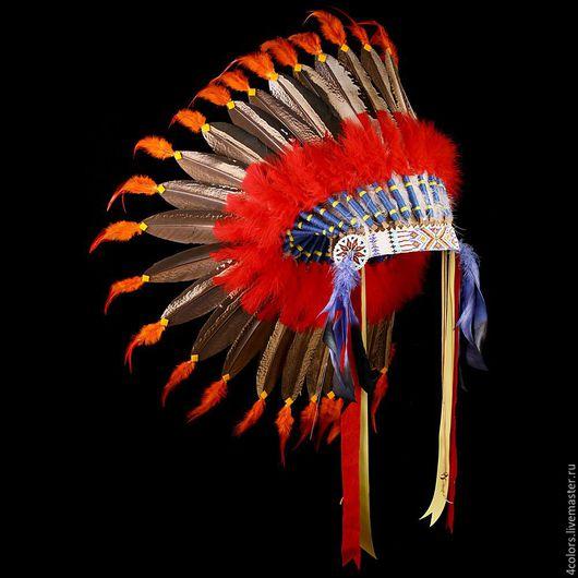 Индейский головной убор из перьев