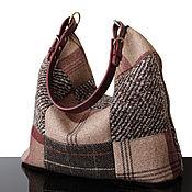 Сумки и аксессуары handmade. Livemaster - original item Bag: Tweed hobo tweed Bag brown. Handmade.