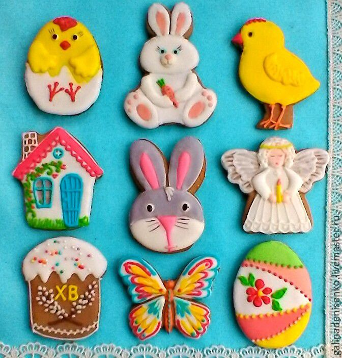 Gingerbread Cookies For Easter Piece In Stock Cakes Toppers