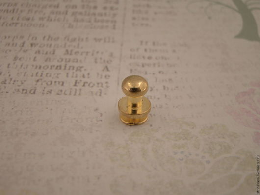 Другие виды рукоделия ручной работы. Ярмарка Мастеров - ручная работа. Купить Кабурная кнопка 811 золотые. Handmade. металл