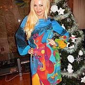 Платье -Красный петушок (М.Шагал)
