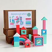 Куклы и игрушки ручной работы. Ярмарка Мастеров - ручная работа Кубики деревянные, набор кубиков 2 ЦВЕТА. Handmade.