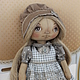 текстильная кукла кукла тыквоголовка коллекционная кукла интерьерная кукла кукла ручной работы кукла кукла в подарок  кукла для души тыковка тыквоголовка кукла душевная кукла кукла для души текстиль