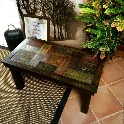Мебель ручной работы. Ярмарка Мастеров - ручная работа. Купить Кофейный журнальный стол дубовый. Handmade. Стильный интерьер