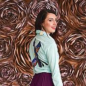 Одежда handmade. Livemaster - original item Cotton shirt with a stripe of sequins. Handmade.