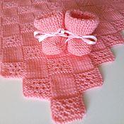 Для дома и интерьера ручной работы. Ярмарка Мастеров - ручная работа Розовый детский плед. Handmade.